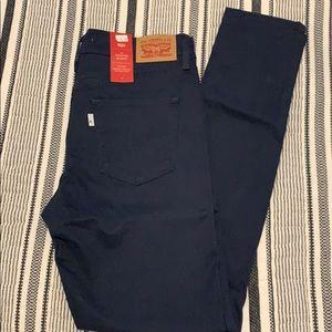 Levi's skinny jeans. Navy blue
